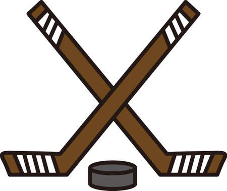 puck: Hockey is a fun sport taking years to master.  Add this image to a towel for your favorite player.  They will love it! Illustration