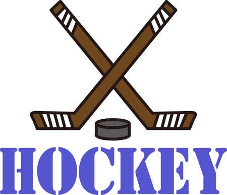 teamsport: Hockey is a fun sport taking years to master.  Add this image to a towel for your favorite player.  They will love it! Illustration