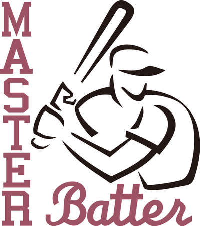 hitter: Baseball is a fun sport taking years to master.  Add this image to a towel for your favorite player.  They will love it!