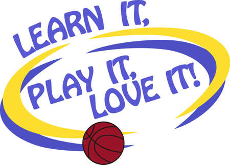 Basketball is a fun sport taking years to master.  Add this image to a towel for your favorite player.  They will love it!