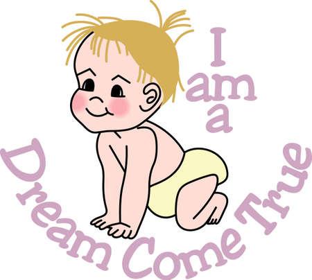 Mirando para añadir estilo al guardarropa de su bebé Este diseño es perfecto en los baberos, los onsies y más! Foto de archivo - 51212524