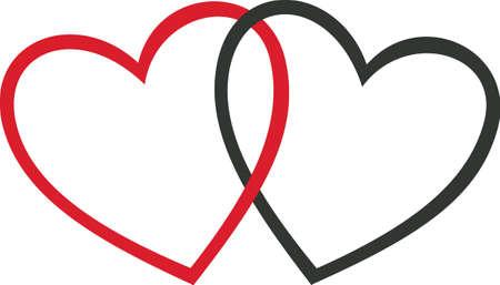 Liebe ist in der Luft! Setzen Sie Ihre Herzen mit diesem Entwurf auf Ihren Feiertagsprojekten in Erstaunen! Vektorgrafik