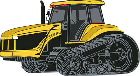 satisfy: The classic farm vehicle will satisfy vehicle-lovers of any age!  Great design for T-shirts and sweatshirts.