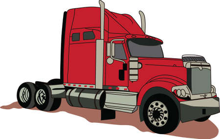 satisfy: The classic truck will satisfy vehicle-lovers of any age!  Great design for T-shirts and sweatshirts. Illustration