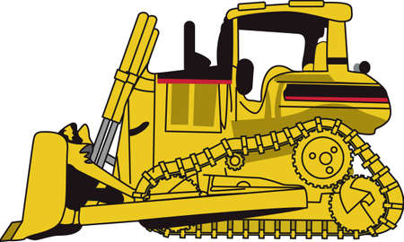 construction dozer: The classic farm truck will satisfy vehicle-lovers of all ages!  A great design for T-shirts and sweatshirts.