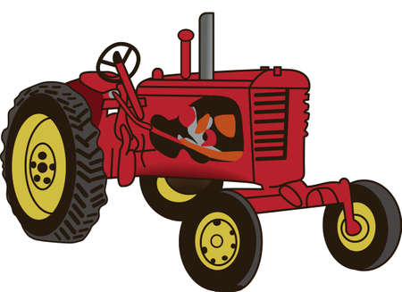 The classic farm truck will satisfy vehicle-lovers of any age!  A great design for T-shirts and sweatshirts. Stock fotó - 51213017