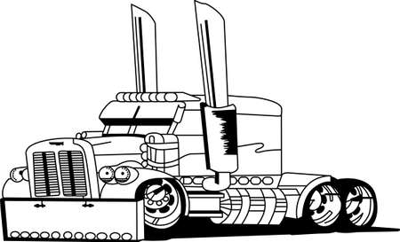 18 wheeler: The classic farm truck will satisfy vehicle-lovers of any age!  A great design for T-shirts and sweatshirts
