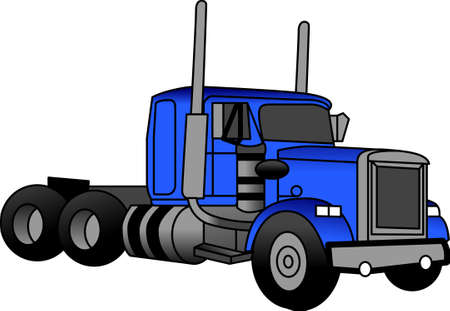 The classic truck will satisfy vehicle-lovers of any age!  A great design for T-shirts and sweatshirts. Иллюстрация