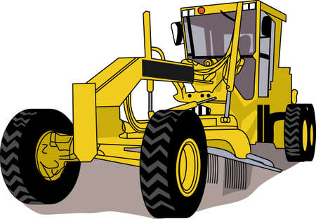 grader: This classic farm truck will satisfy vehicle-lovers of any age! Great design for T-shirts and sweatshirts. Illustration