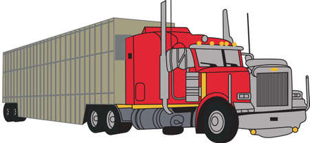 hauler: This classic farm truck will satisfy vehicle-lovers of any age! Great design for T-shirts and sweatshirts. Illustration