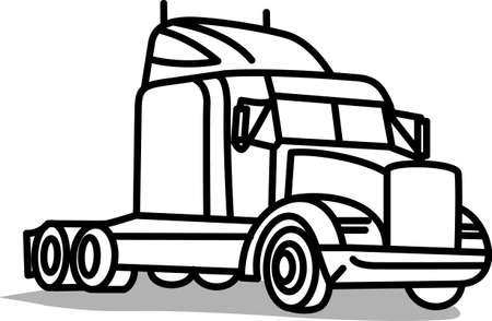 18 wheeler: This classic farm truck ill satisfy vehicle-lovers of any age! Great design for T-shirts and sweatshirts. Illustration