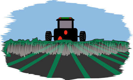 plow: This classic farm truck will satisfy vehicle-lovers of any age! Great design for T-shirts and sweatshirts. Illustration