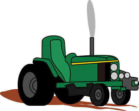 This classic farm truck will satisfy vehicle-lovers of any age! Great design for T-shirts and sweatshirts. Stock fotó - 51219553