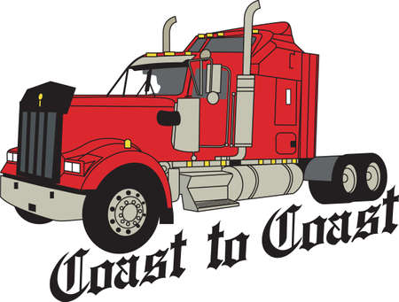 The classic truck will satisfy vehicle-lovers of any age!  Great design for T-shirts and sweatshirts. Иллюстрация