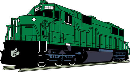 This classic train engine will satisfy vehicle-lovers of any age! Great design for T-shirts and sweatshirts.