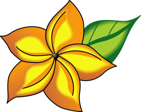 oleander: Use this lovely flower on a kitchen linen or a shirt for a friend. Illustration