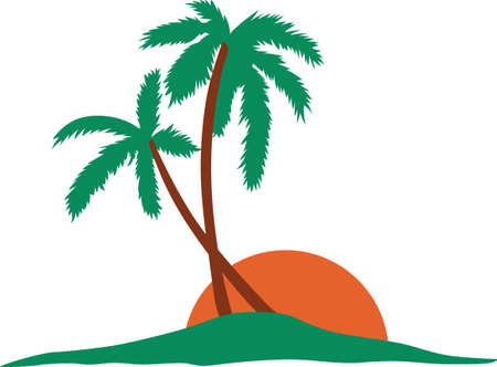 Surfers and beach goers enjoy the tropical Hawaiian island as their travel destination. Иллюстрация