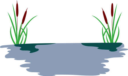 bog: Add a touch of wetlands to your projects with this cattail design.  A great design for a wall hanging or decal.
