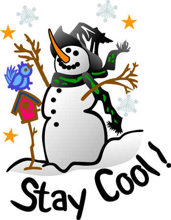 jack frost: Our smilin snowman is a jolly happy soul!  Let him bring a special kind of holiday charm to your printwork for the holidays. Illustration