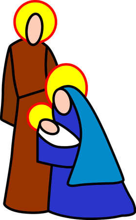 saviour: Artistic and colorful nativity figures add the stained glass effect to your work.  Clean sharp lines make this a perfect design for multi-color vinyl cuts.