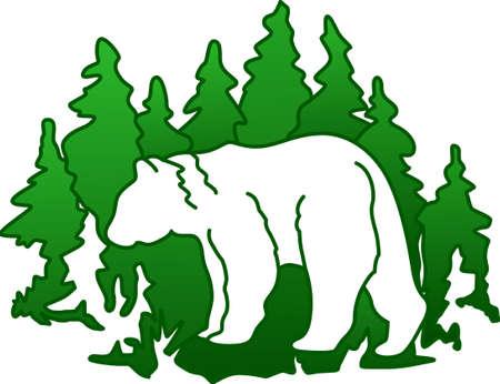 Questo orso silhouette è una creazione molto artistico tenendo le immagini belle sempreverdi. Perfetto per pile e sudorazione.
