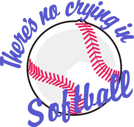 Softball is a very active sport taking years to master.  This is a wonderful design to add to the teams hat.  They will love it!