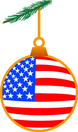 A perfect ornament for military families - or for any patriotic family! The perfect stars and stripes for holiday cheer.