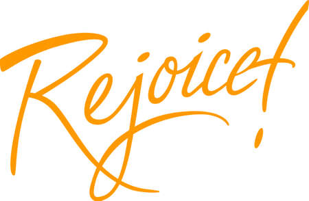Word art says so much for the holiday season - Rejoice!  Absolutely perfect for vinyl cuts to create a stunning tee!