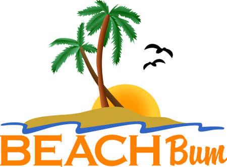 Tropische Strände mit sanften Brise und hohen Palmen. Gibt es einen Ort besser Diese perfekte T-Shirt-Kunst, die Sie dort nimmt nur dann, wenn im Kopf. Standard-Bild - 51220117