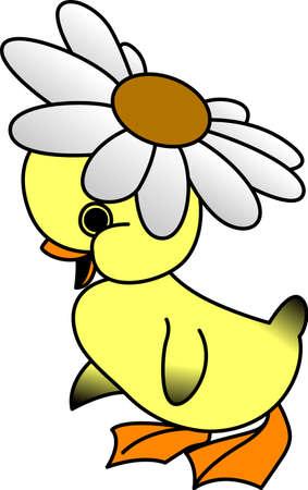 데이지 오리는 봄을 맞이하기 위해 도착했습니다. 이 작은 귀염둥이는 당신이 당신의 작은 하나를위한 부활절 dcor를 만드는 데 필요한 것입니다.