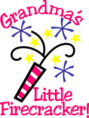 here's: Heres a special July 4th design just for the little ones!  Give your little firecracker a special creation decorated with this fun firecracker! Illustration