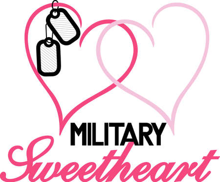 Love your military sweetheart - we have your design!  A great Valentine or Wedding design.  Perfect for vinyl cuts.