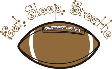 teamsport: Football is an active sport taking years to master.  Add this image to a towel for your favorite player.  They will love it! Illustration