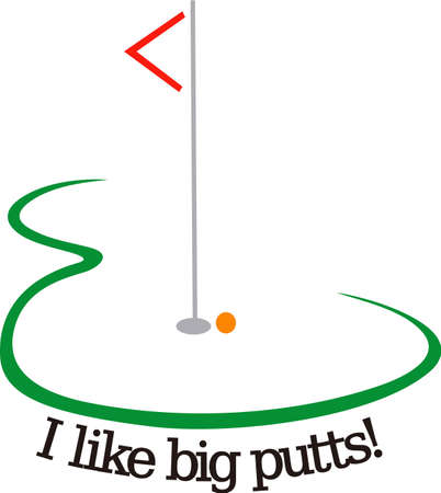Golf is a fun life sport taking years to master.  Add this image to a towel for your favorite player.  They will love it! Иллюстрация