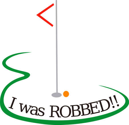 greens: Golf is a fun life sport taking years to master.  Add this image to a towel for your favorite player.  They will love it! Illustration