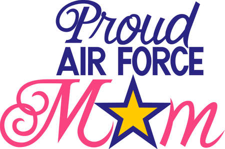 Military moms are especially proud of their children who serve.  This is a lovely design to create something special to honor their special role. Çizim
