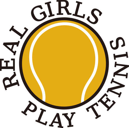 Tennis is a fun sport taking years to master.  Add this image to a towel for your favorite player.  They will love it!