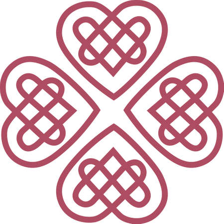 visually: A lovely Celtic heart makes a visually stunning statement on your creations.  Solid, clear lines make this design perfect for vinyl cuts Illustration
