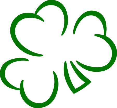 Create an Irish masterpiece with this lovely shamrock.  Great for St. Patricks Day creations.