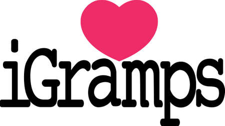 Create something special for a little persons outing with Gramps!  Perfect for SVG cuts and screen printing!