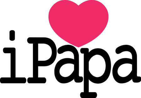 Create something special for a little persons outing with papa!  Perfect for SVG cuts and screen printing!