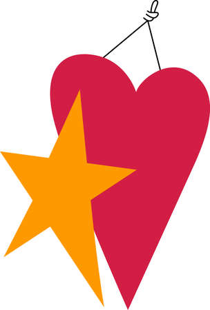 Create a visual message with this stunning heart and star art.  Great for your custom print creations.