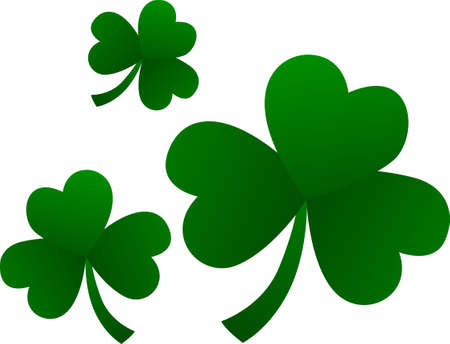 st  patty's: Say Happy St. Pattys Day with our trio of lucky clovers.  Great invitation art or for party decorations!