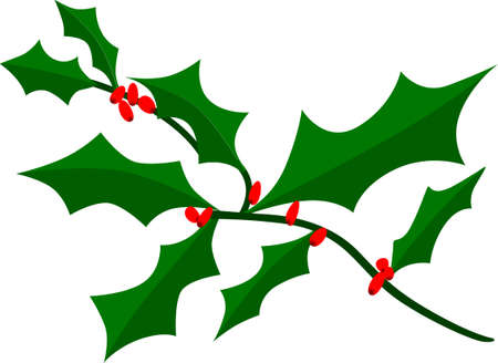 a sprig: A tiny sprig of holly is the perfect Christmas decoration. Great for decorating your holiday table.