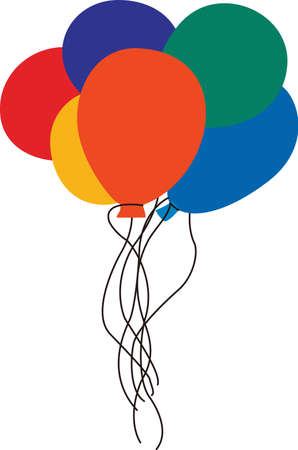 possibilities: Spruce up your party with these bright and colorful balloons!  A versatile design that offers endless possibilities on any project.