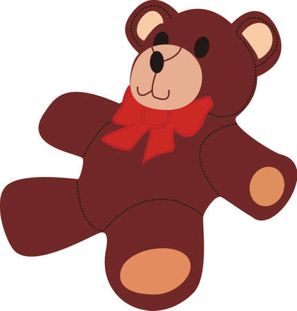 lovable: Squeeze love into your day with this huggable teddy bear.  Use this lovable design on your baby room decor!