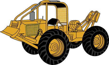 logger: Does your little tyke dream of driving a tractor around If they didnt before, they will now!   A great design on t-shirts, sweatshirts and more. Illustration