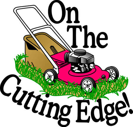 Mow the lawn with the right tools and have your neighbors envy your green masterpiece!  A great design on gardening aprons, t-shirts and more.