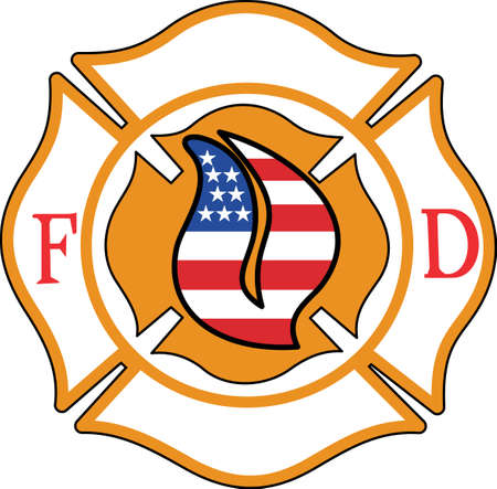 Personalizar el engranaje para los profesionales de extinción de incendios y salvamento con este diseño en las camisetas, camisetas, sombreros y más. Ilustración de vector