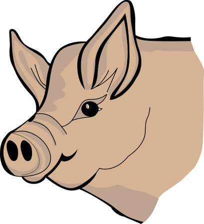 porker: We have found the perfect piggy for your farm creations!  Bring this piggy into your screen printing or ink creations!